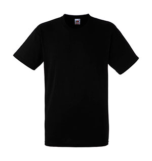 Camiseta algodón Heavy T Black